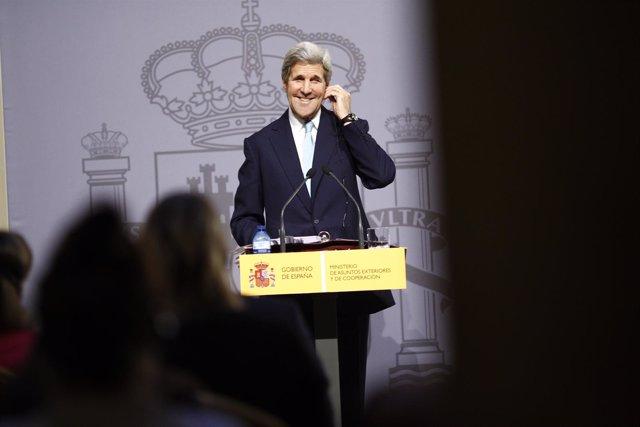 Rueda de Prensa en Madrid del secretario de Estado de EEUU, John Kerry