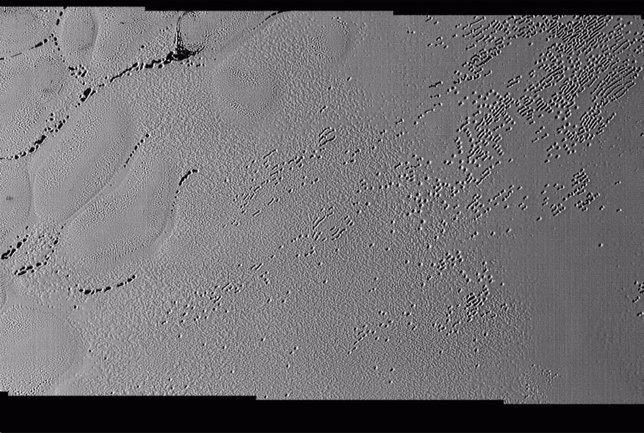Hoyos en Plutón