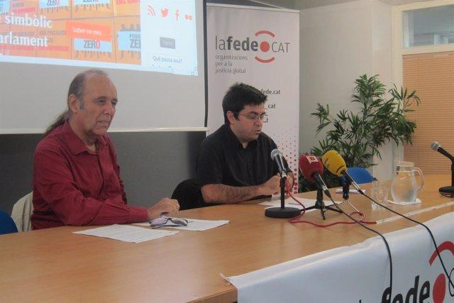 Gerardo Pisarello y el vicepresidente de Lafede Tono Albareda