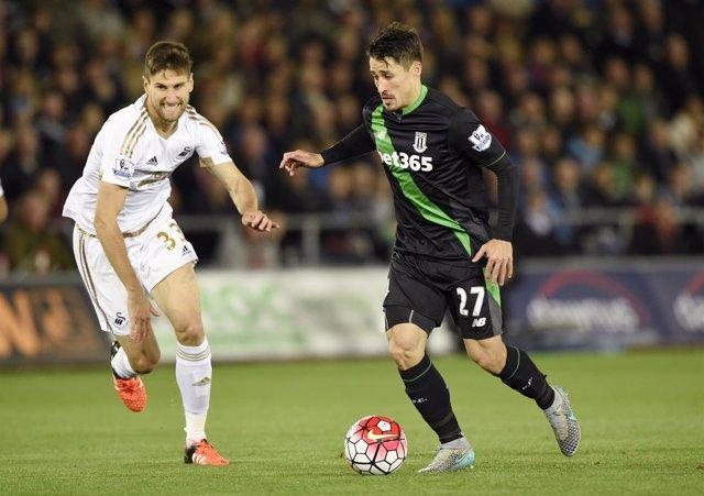 Bojan Krkic Swansea City Stoke City