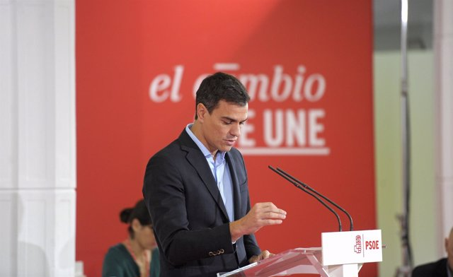 El secretario general del PSOE, Pedro Sánchez, ante el Comité Federal
