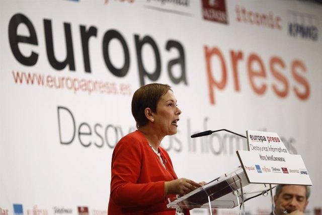 Desayuno de Europa Press con Uxue Barkos, presidenta de Navarra