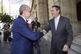Espadas y De la Torre formalizan el eje de colaboración Sevilla-Málaga