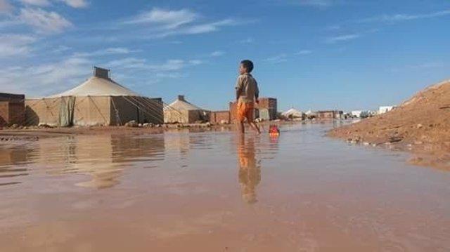 Inundaciones en los campamentos de refugiados saharauis en Argelia