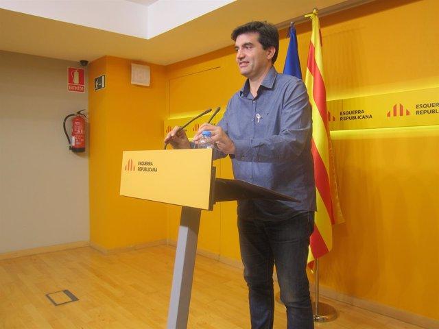 Sergi Sabrià (ERC) este lunes en rueda de prensa