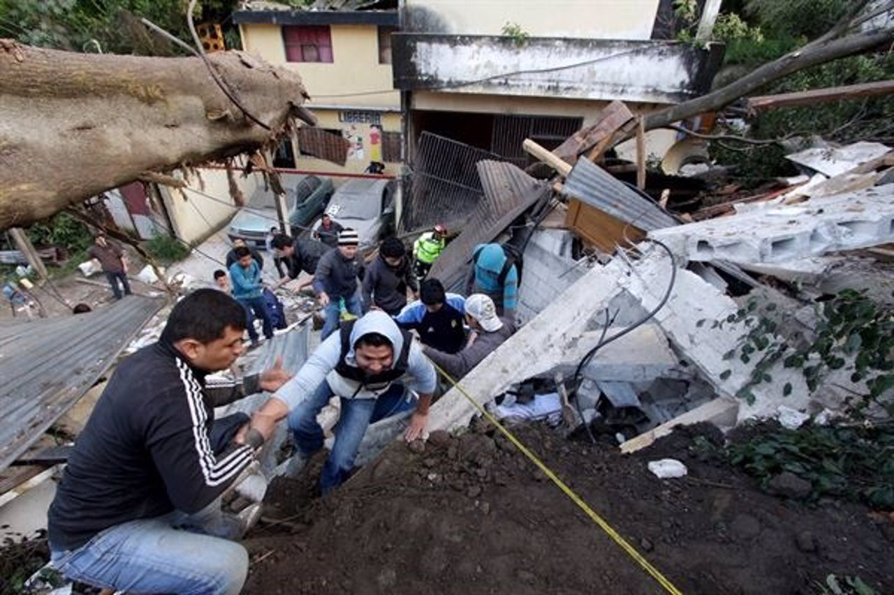 Derrumbamiento Guatemala