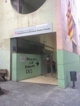 La sede de la Conselleria de Bienestar Social y Familia en Granollers