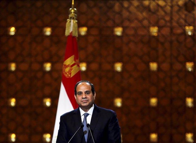 El presidente de Egipto , Abdel Fattah al- Sisi