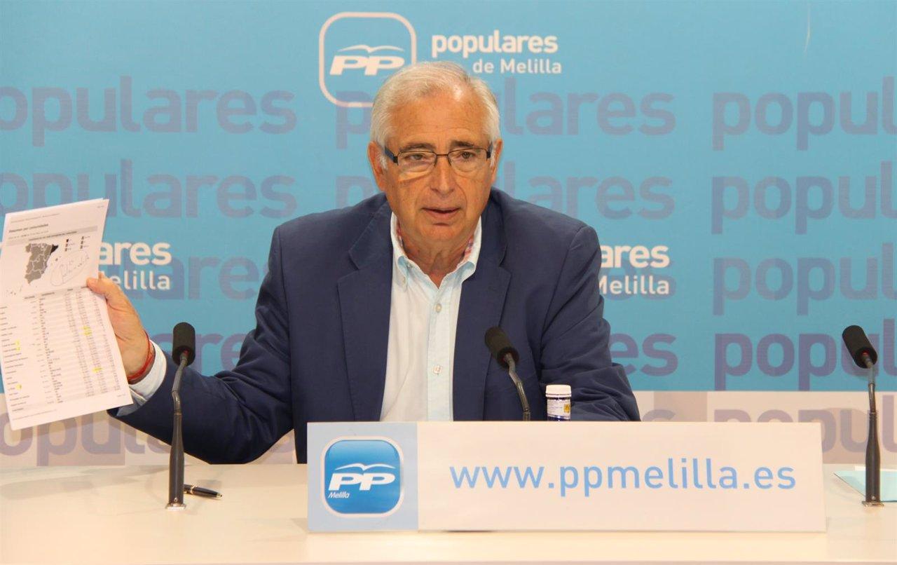 Juan José Imbroda durante la rueda de prensa.