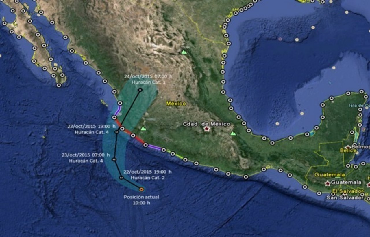 Huracán Patricia alcanzará categoría 4