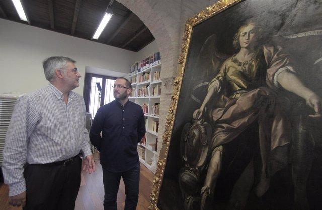 Presentación del cuadro de San Rafael restaurado