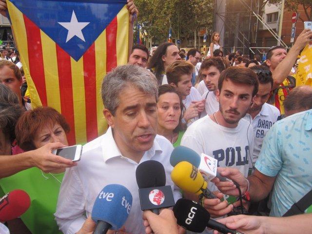 El conseller Francesc Homs en la Via Lliure de esta Diada 2015
