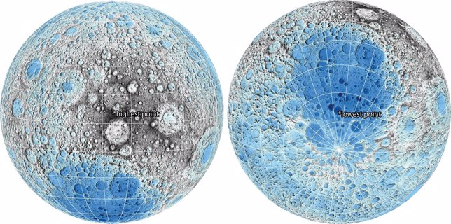 Mapa topográfico lunar