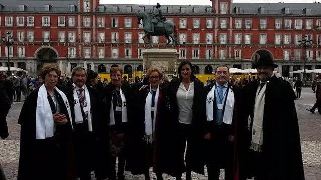 Gema Igual en el Encuentro de la Asociación de Amigos de la Capa Española