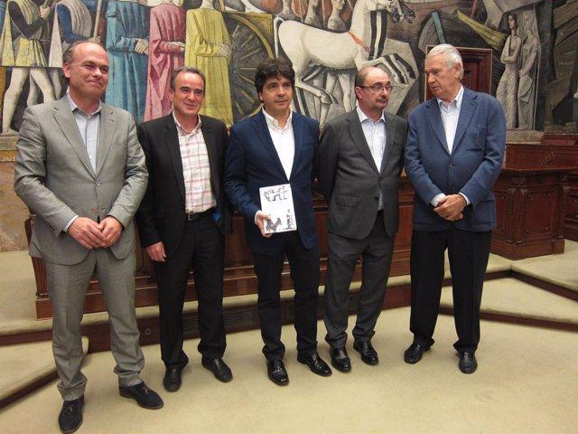 Mario Garcés ha presentado su libro este viernes en la DPZ