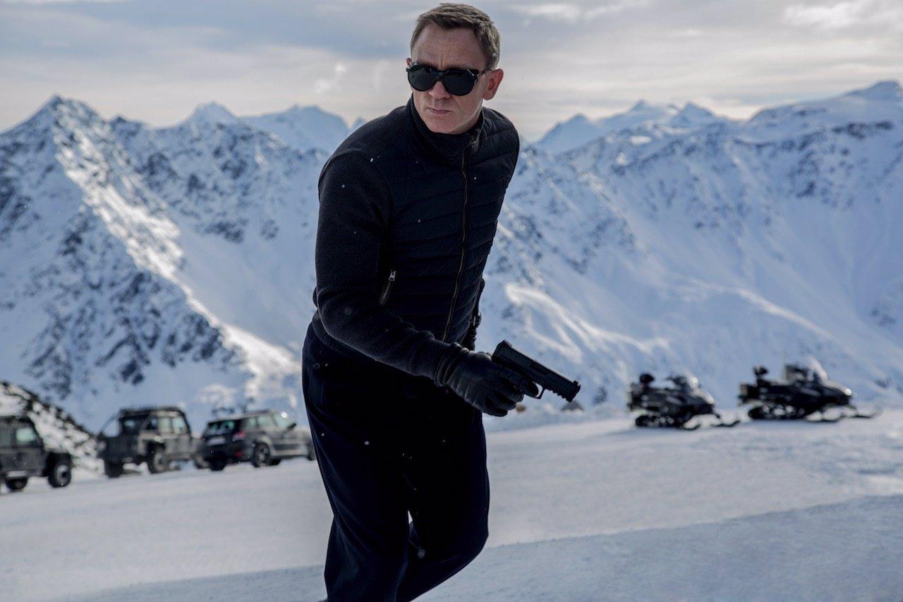Daniel Craig en el rodaje de Spectre