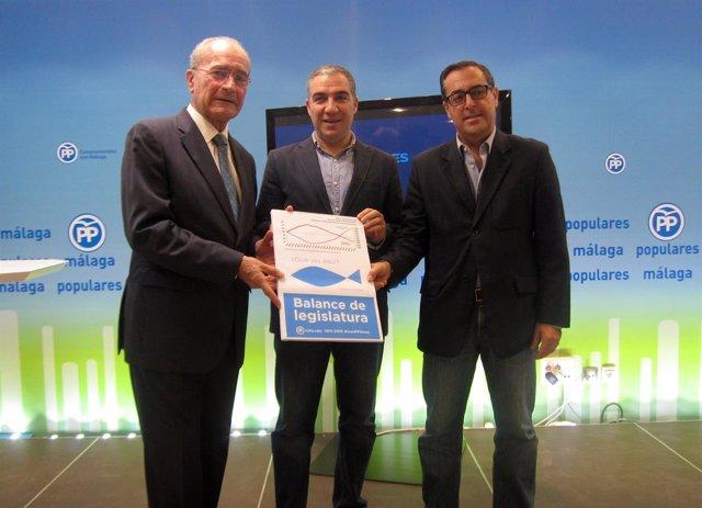 De la Torre, Elías Bendodo y Miguel Briones