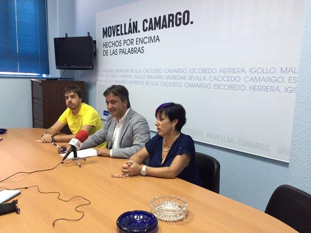 Rueda de prensa de Diego Movellán en el PP de Camargo