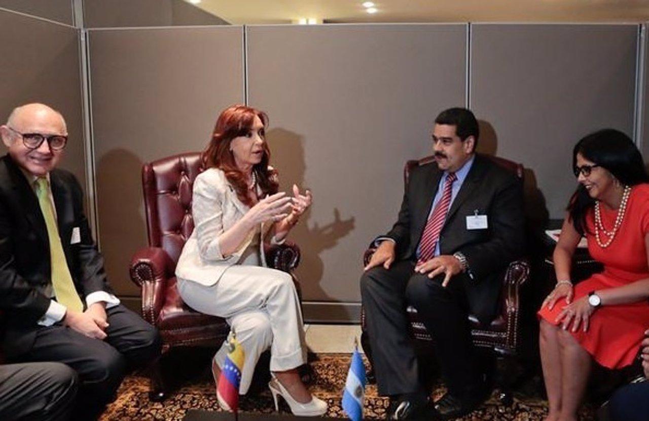 Cristina Fernández y Nicolás Maduro