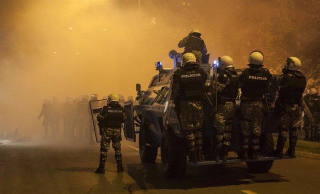 Protestas en Podgorica