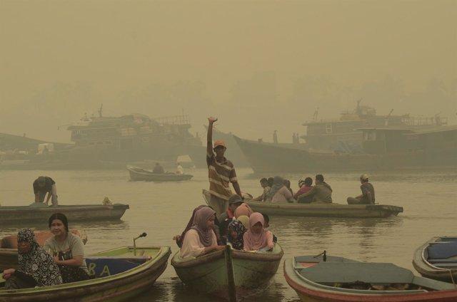 Humo en los incendios de Indonesia