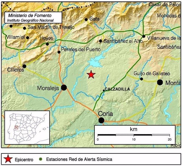 Pequeño temblor en Calzadilla (Cáceres)