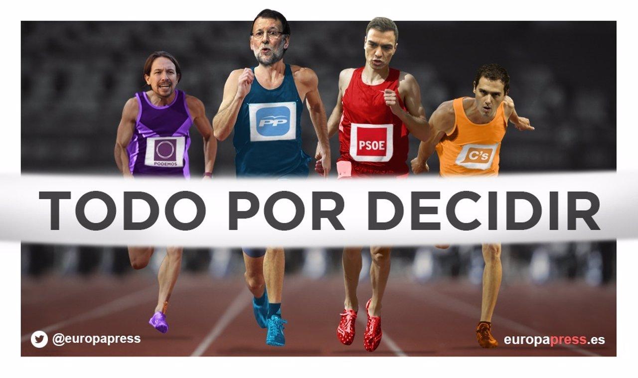 Pistoletazo de salida elecciones 20D, Rajoy, Sánchez, Iglesias, Rivera