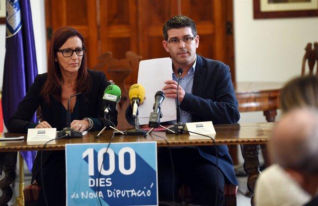 Rodríguez y Amigó durante su valoración de los cien primeros días de gobierno