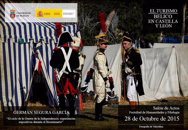 Imagen promocional de la Jornada sobre Turismo Bélico