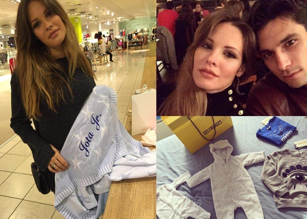 Jessica Bueno y Jota Peleteiro de compras para el pequeño Jota Jr.