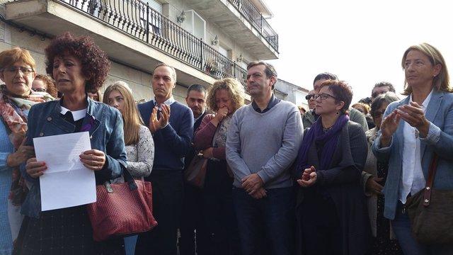 Concentración por el asesinato de Concepción Reguera