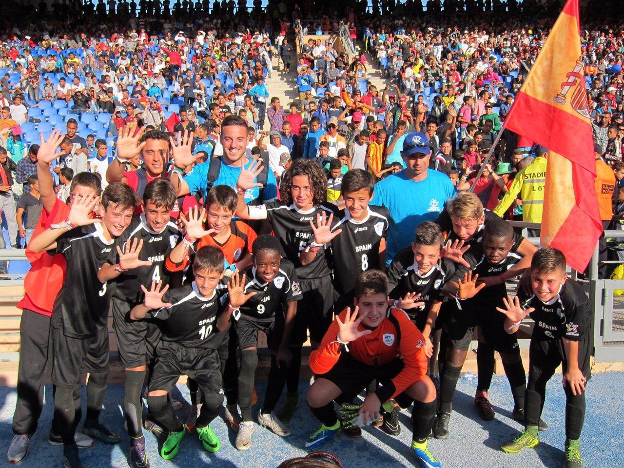 España se luce en Marrakech y termina quinta en la Danone Nations Cup