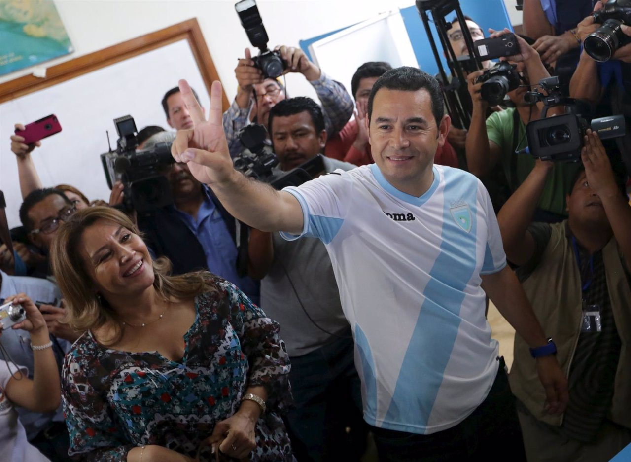 Jimmy Morales, presidential candidate for the National Convergence Front party (