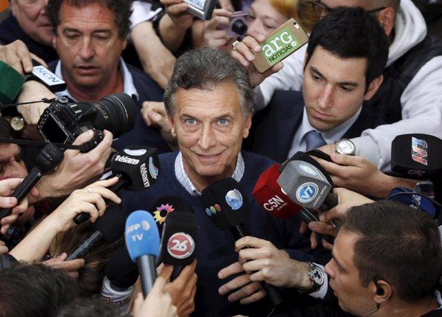 El candidato presidencial opositor argentino Mauricio Macri