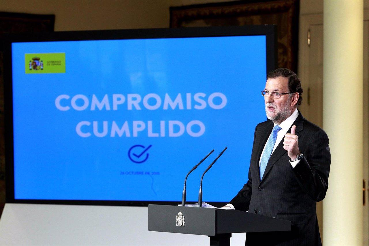 Rajoy comparece en Moncloa