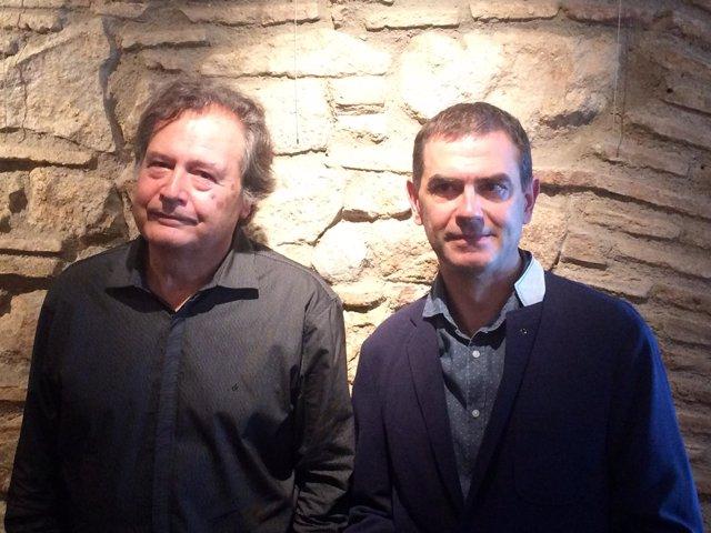 Los profesores Jordi Balló y Xavier Pérez