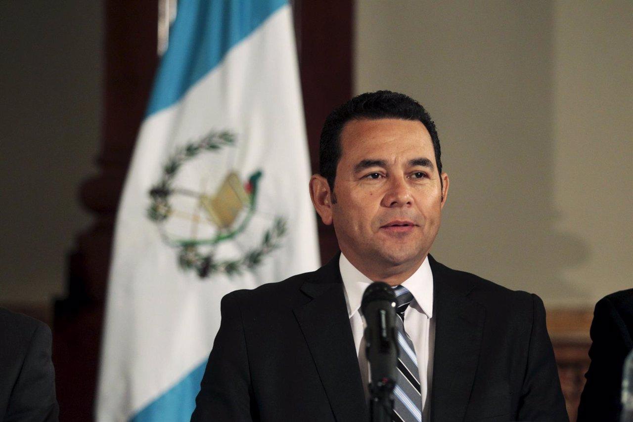 El presidente electo de Guatemala, Jimmy Morales