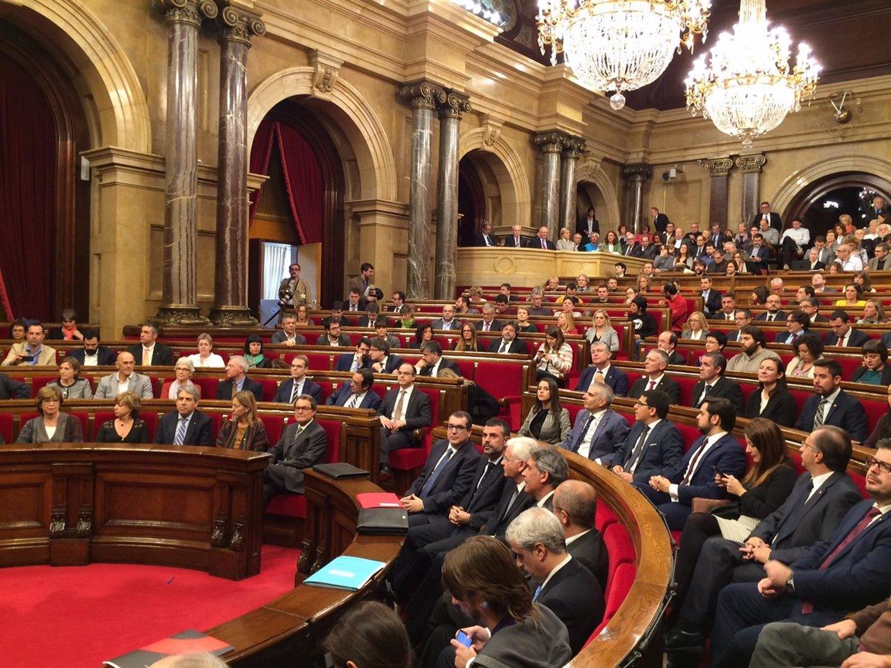 Parlament de Catalunya en la apertura de la XI Legislatura