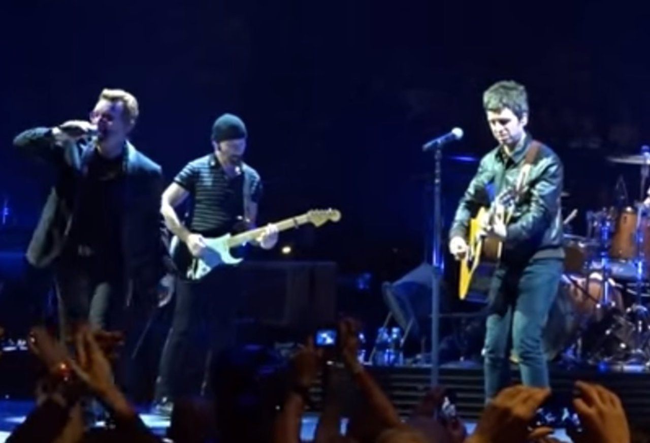 Bono, The Edge y Noel Gallagher