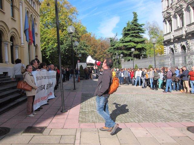Manifestación de empleados públicos en Asturias