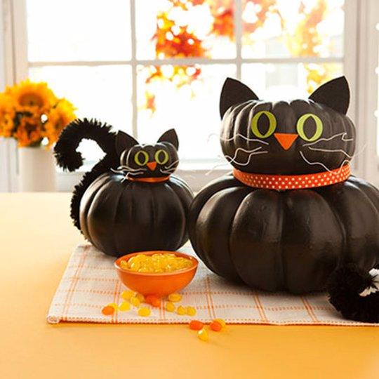 7 ideas para tallar y decorar las calabazas de halloween paso a paso infograf a - Calabazas de halloween pintadas ...