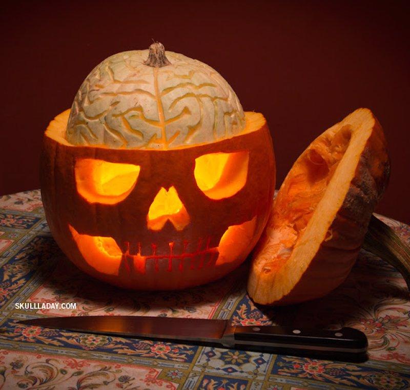 7 Ideas Para Tallar Y Decorar Las Calabazas De Halloween Paso A - Como-decorar-una-calabaza-para-halloween