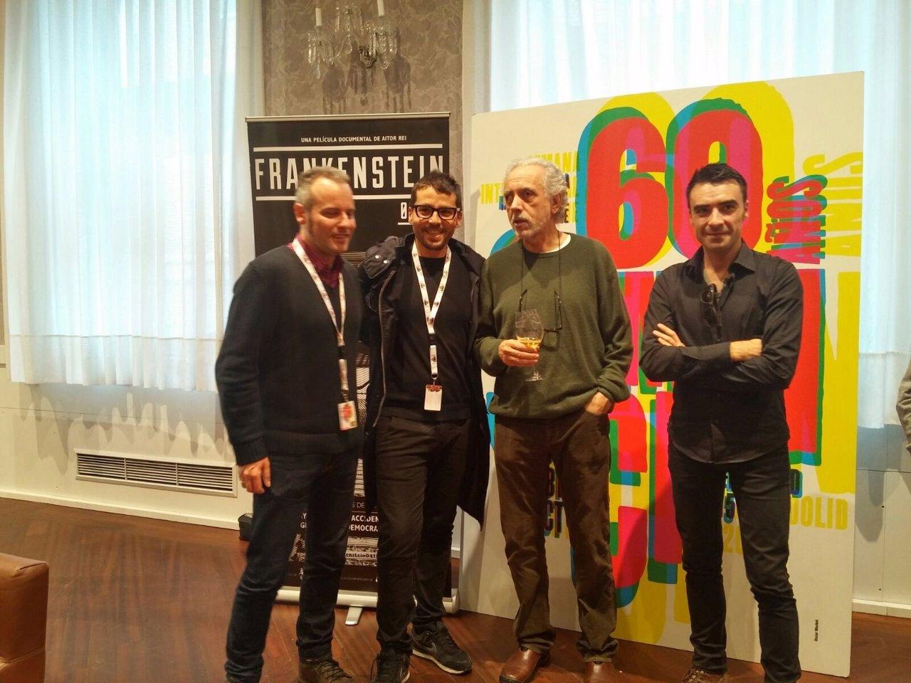 El equipo de 'Frankenstein-04155', con Fernando Trueba