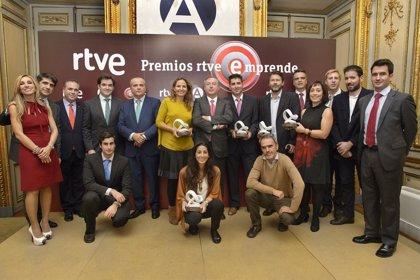 'Mundospanish', 'Acuerdalo', 'Ivoox.com', 'RooDol' y 'Percentil', I Premios Emprende RTVE