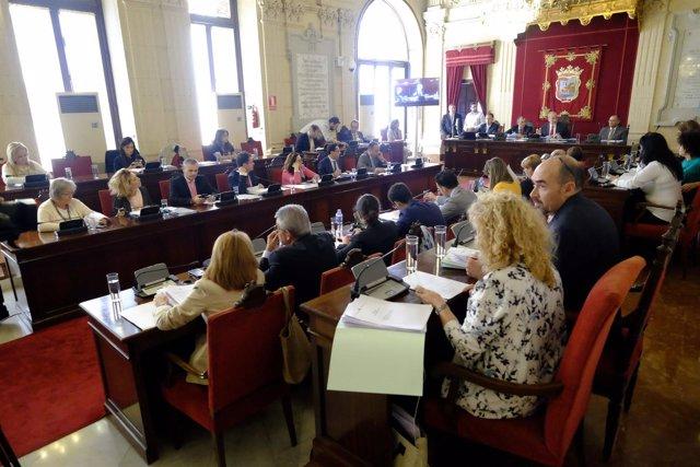 Pleno del Ayuntamiento de Málaga de octubre