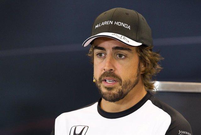 El piloto español de Fórmula 1 Fernando Alonso (McLaren)