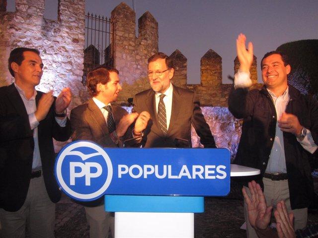 Juanma Moreno, Mariano Rajoy, Fernando Priego y José Antonio Nieto