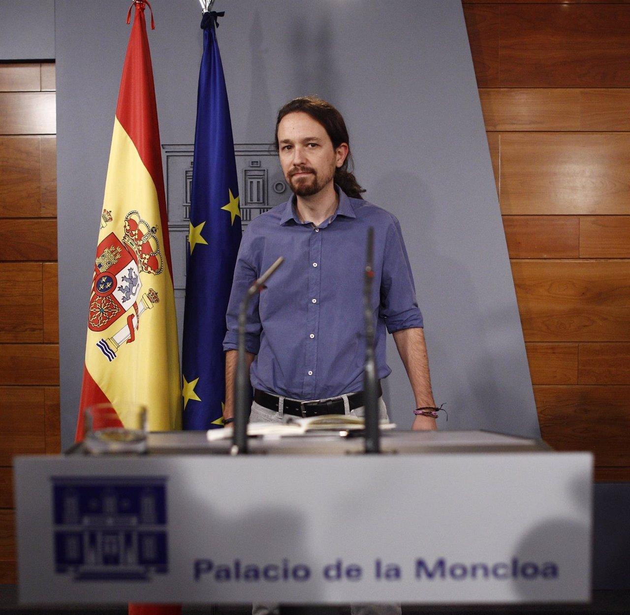 Pablo Iglesias en la RDP en Moncloa