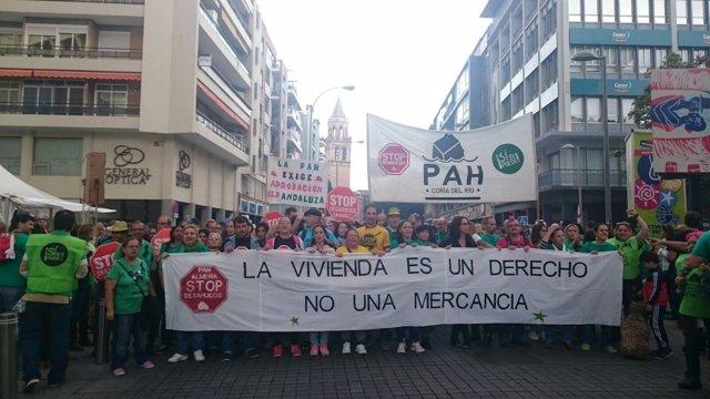 Marcha reivindicativa para exigir compromiso con la ILP Andaluza