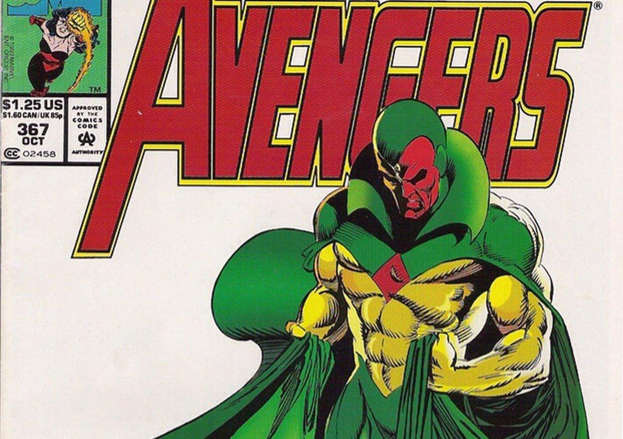 Visión en un comic de Los Vengadores